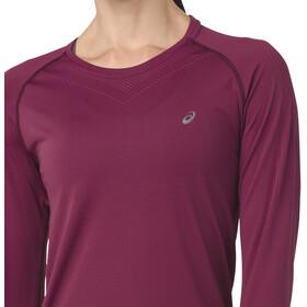 asics Seamless - Camiseta manga larga running Mujer - rojo